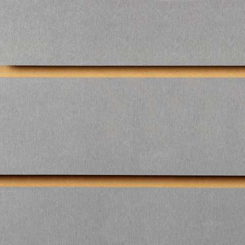 Silver Slatwall Panel - 100mm Centres - 18mm MDF