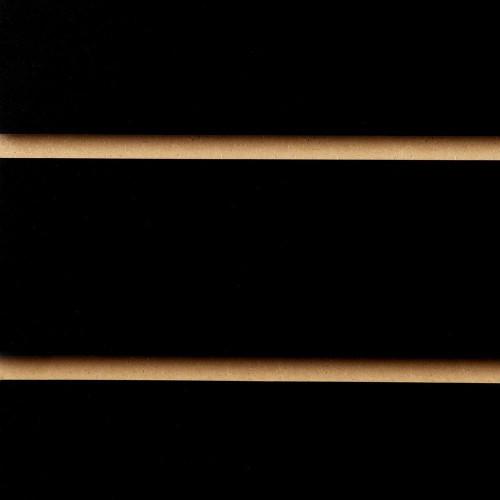 Black Slatwall Panel - 100mm Centres - 18mm MDF