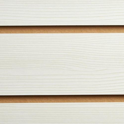 Pino White Slatwall Panel - 100mm Centres - 18mm MDF
