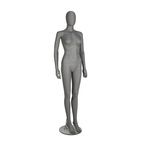 Trance Faceless Mannequin 02 - Female - Matt Grey - Eco-Friendly Plastic