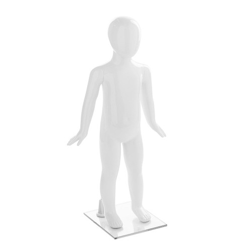 Fin Child Mannequin 01 - Age 2 - Gloss White