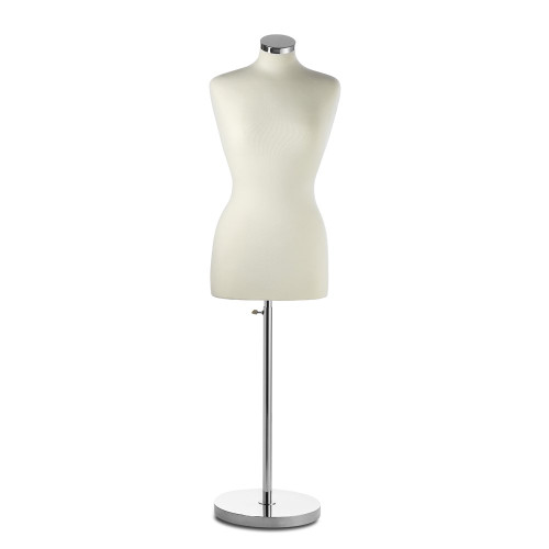 Display Bust with Chrome Base - Female - Size 6-8