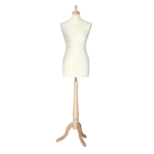 Display Bust with Maple Tripod Base - Female - Size 6-8