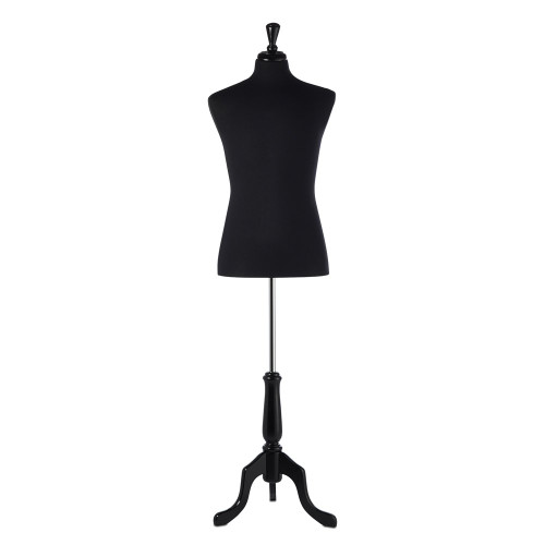 Black Display Bust with Black Tripod Base - Male - Size 6-8