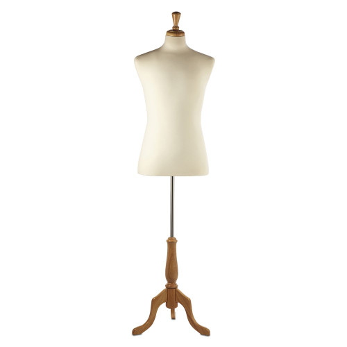 Display Bust with Maple Tripod Base - Male - Size 38