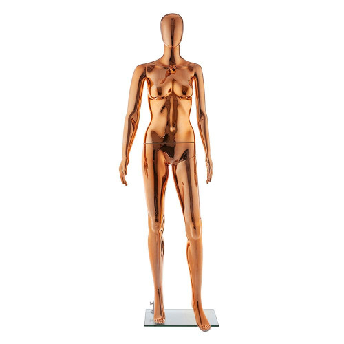 Galaxy Faceless Mannequin 01 - Female - Metallic Copper - Eco-Friendly Plastic
