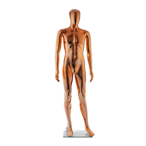 Faceless Mannequin 01 - Male - Metallic Copper - Eco-Friendly Plastic