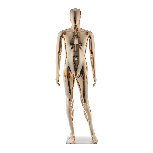 Faceless Mannequin 01 - Male - Metallic Pale Gold - Eco-Friendly Plastic