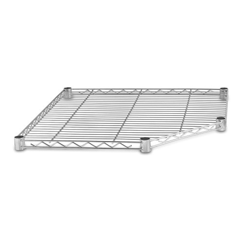 Chrome Wire Corner Shelf for Chrome Wire Shelving - W680 x D680mm - Fits 450mm Deep Shelving