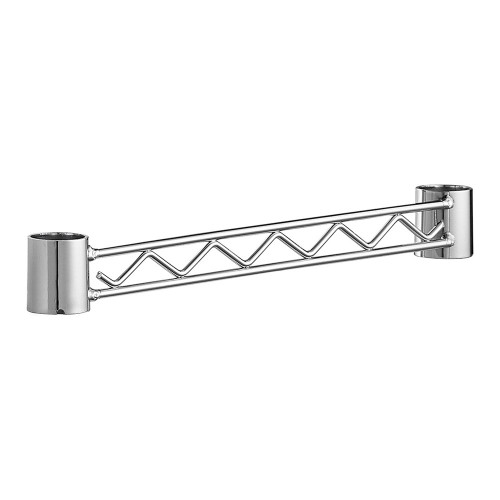 Side or Rear Support Rail for Chrome Wire Shelving