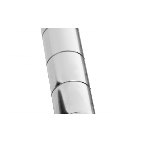 Pack of 4 Chrome Upright Posts for Chrome Wire Shelving - Fits All Shelves
