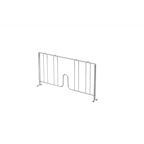 Chrome Wire Shelf Divider for Chrome Wire Shelving - H230 x W460mm