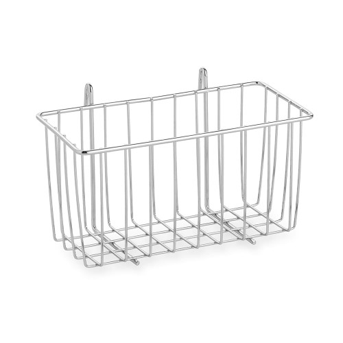 Hanging Wire Basket for Chrome Wire Shelving - H130 x W250 x D120mm