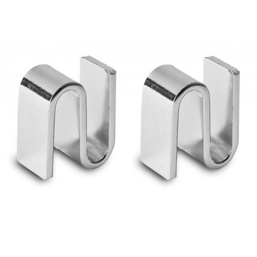 Pack of 2 Chrome Shelf Joining Brackets for Chrome Wire Shelving - Fits All Units