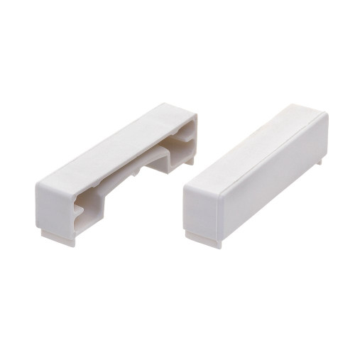 Pair of PVC End Caps for Retail Shelving Upright - 60mm