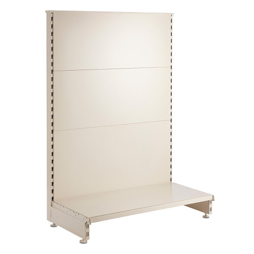 Jura White End Bay for Retail Shelving Gondola Bays