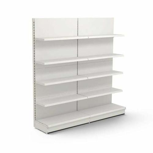 Jura White Retail Wall Shelving - 2 x Bays, 8 x 370mm Shelves