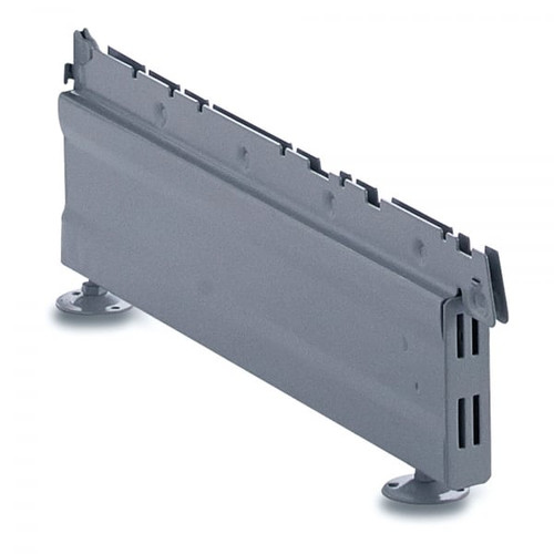 Silver Base Leg for Retail Shelving Units - H160mm