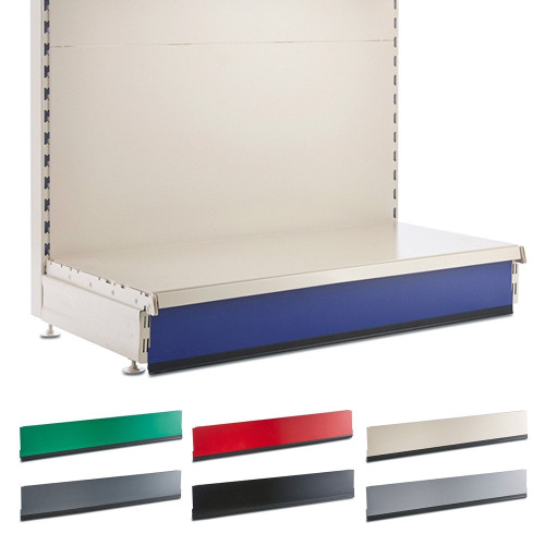 Kick Plinth for Retail Shelving Wall or Gondola Units - W1000mm