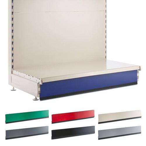 Kick Plinth for Retail Shelving Wall or Gondola Units - W1250mm