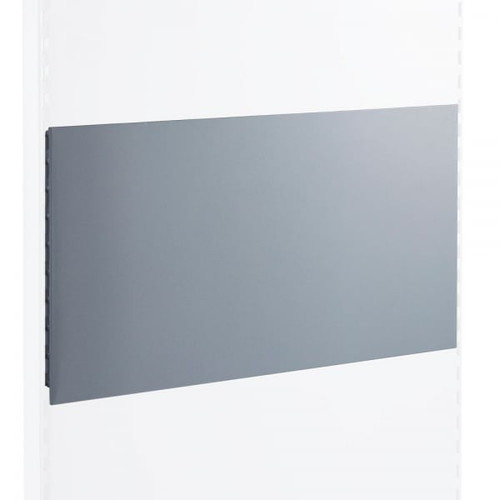 Silver Plain Back Panel for Retail Shelving Units - W1250mm