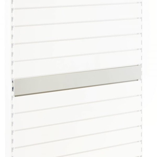 Jura White Slatwall Back Panel for Retail Shelving Units - H100mm