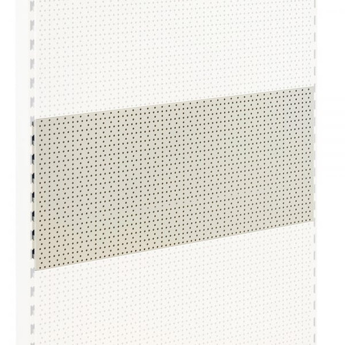Jura White Perforated Back Panel for Retail Shelving Units - H400mm