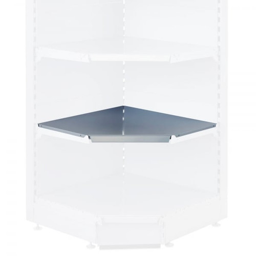 Silver Internal Shelf for Retail Shelving Units (No Brackets) - 90 Degree