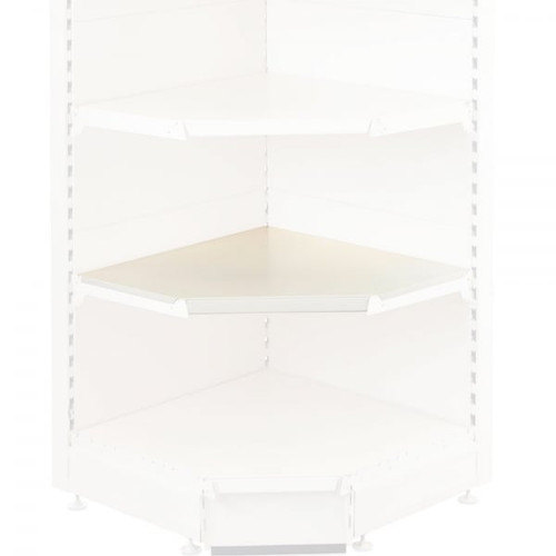 Jura White Internal Shelf for Retail Shelving Units (No Brackets) - 90 Degree