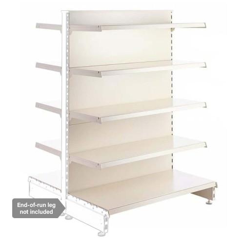 Jura White Retail Shelving Modular Gondola Unit - 8 x 370mm Shelves - H1400mm