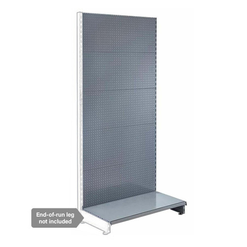 Silver Retail Shelving Modular Wall Unit - Perforated Back Panels