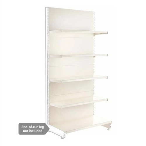Jura White Retail Shelving Modular Wall Unit - 4 x 370mm Shelves