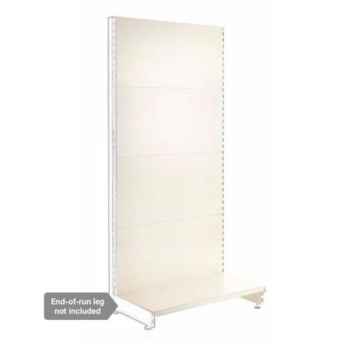 Jura White Retail Shelving Modular Wall Unit - Plain Back Panels - 1 x Base Shelf