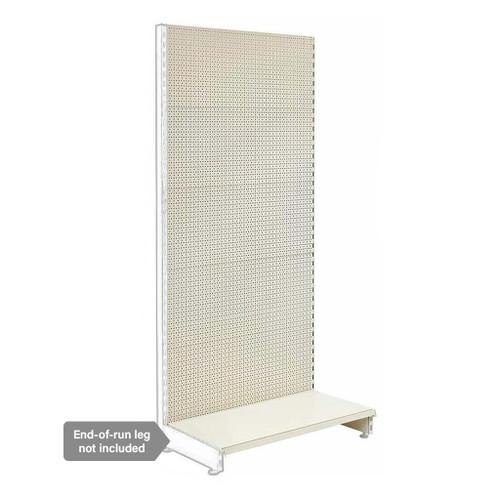 Jura White Retail Shelving Modular Wall Unit - Perforated Back Panels