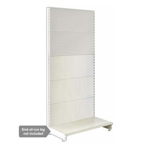 Jura White Retail Shelving Modular Wall Unit - Plain & Perforated Back Panels