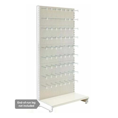 Jura White Retail Shelving Modular Wall Unit - Perforated Back Panels and Euro Hooks