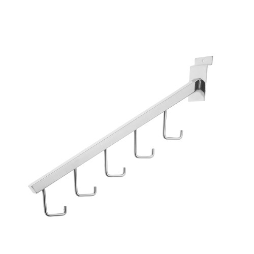 5-Hooked Display Arm for Slatwall