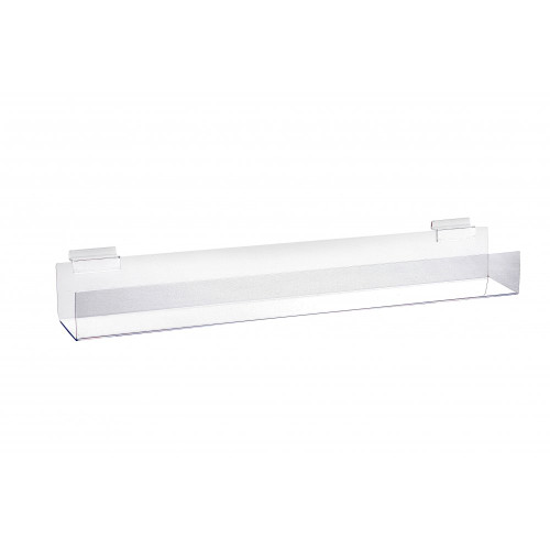 Acrylic Display Channel With Angled Bottom for Slatwall