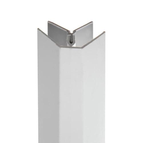 Grey External Corner for Slatwall Panels