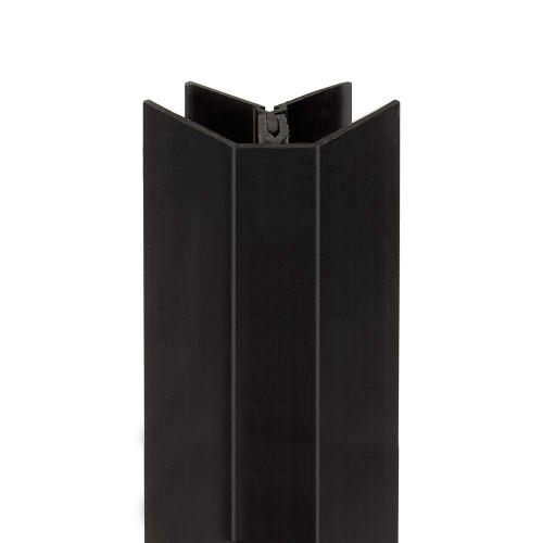 Black External Corner for Slatwall Panels