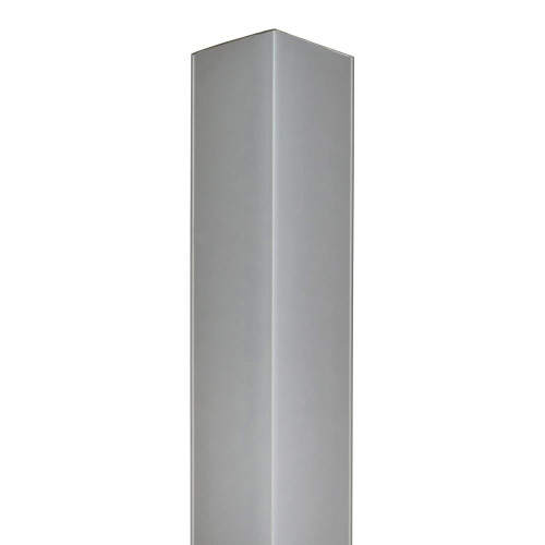Silver 90° Corner for Slatwall Panels