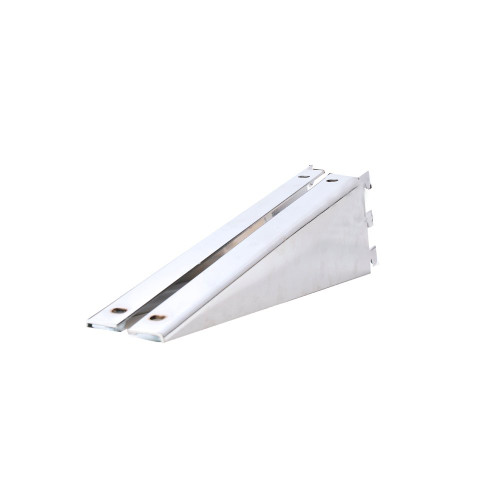 Pack of 2 Chrome Brackets for Twin Slot Wooden Shelves