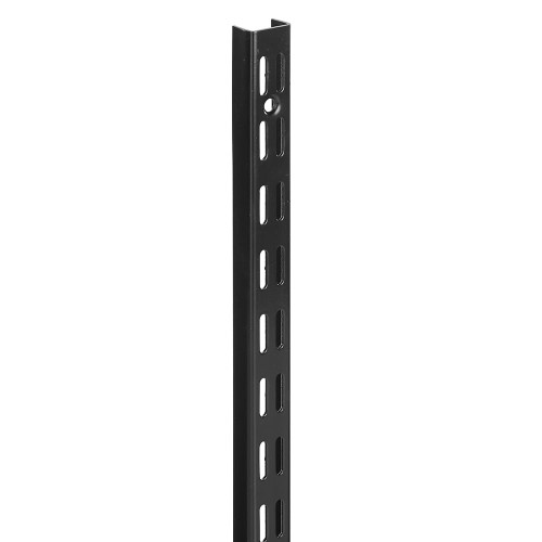 Black Twin Slot Upright - 32mm Pitch