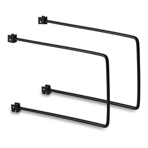 Pair of Black Flexible Twin Slot Bookends
