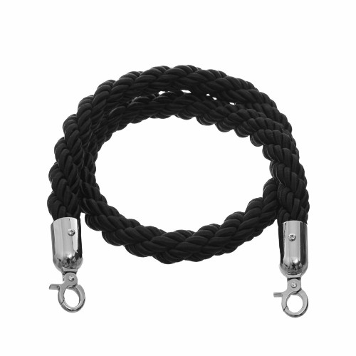 1.5m Barrier Rope - Black Twisted Rope