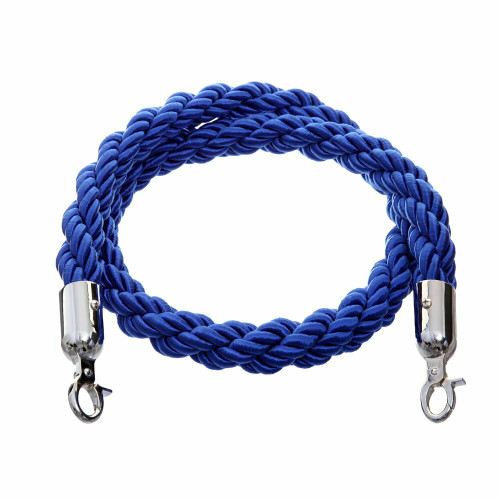 1.5m Barrier Rope - Blue Twisted Rope
