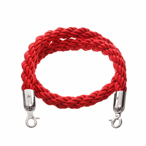 1.5m Barrier Rope - Red Twisted Rope