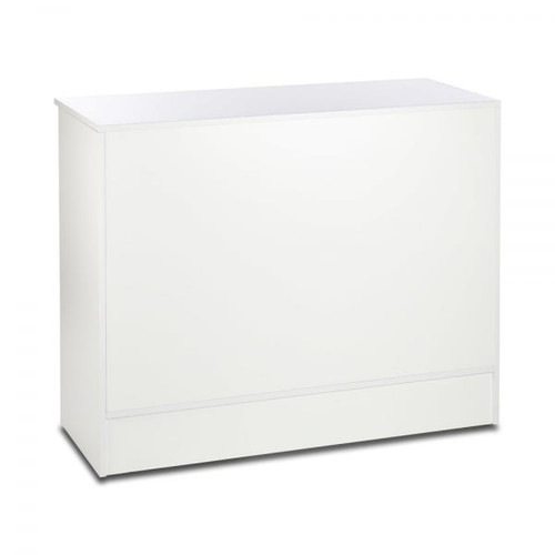 White Shop Counter with Adjustable shelves - Silhouette Range