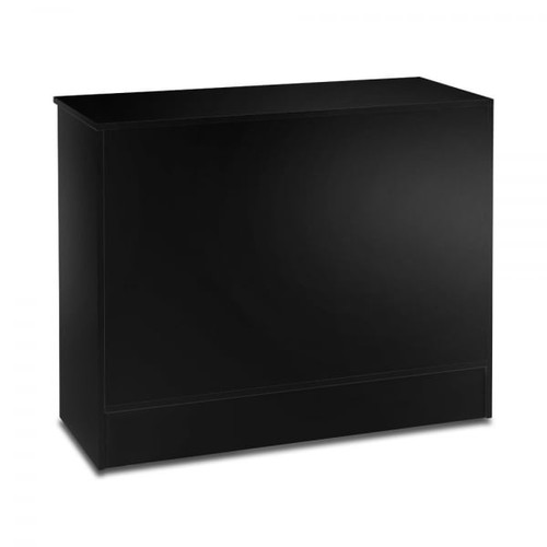 Black Shop Counter with Adjustable shelves - Silhouette Range