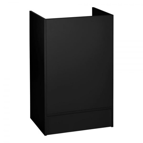 Black Shop Till Stand with Shelf & Drawer - Silhouette Range